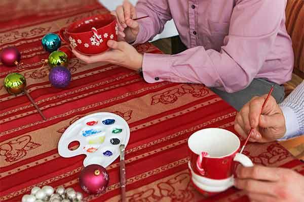 Wiehnachtstasse gestalten bei Emmerich Events, Weihnachtsfeier