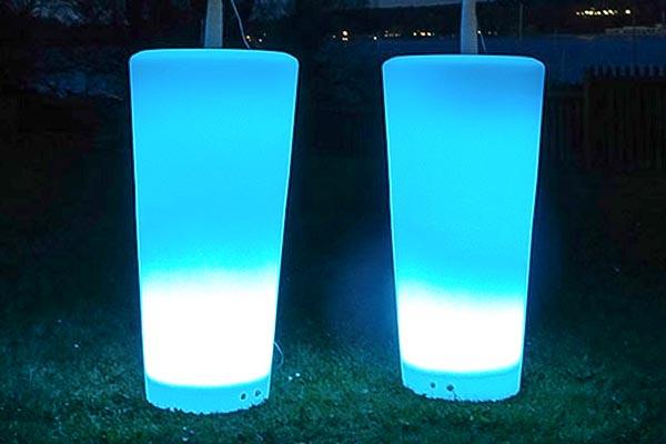 LED Vasen mieten, LED Vasen Verleih, Eventtechnik, Hochzeitstechnik, Emmerich Events Verleih
