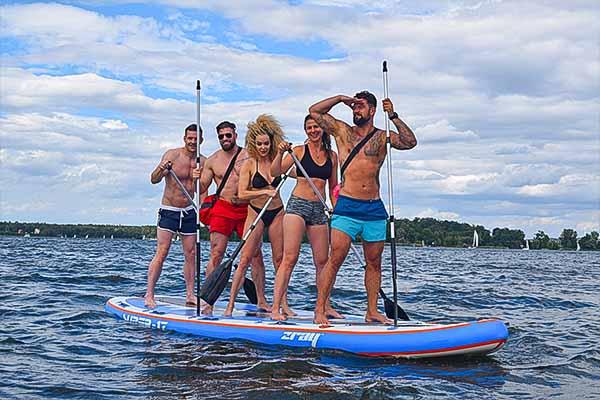 XXL SUP Board mieten, XXL Stand Up Paddle Board mieten, XXL SUP Board Verleih, Emmerich Events