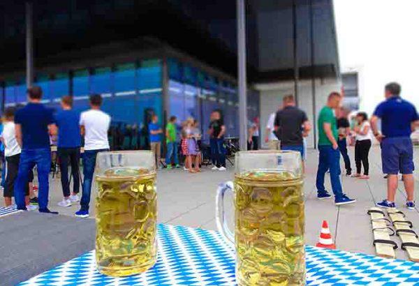 Bayerische Challenge in Düsseldorf, Teambuilding Events in Düsseldorf, Firmenevent in Düsseldorf, Betriebsausflug, Emmerich Events, Firmenevents, Bayerische Olympiade