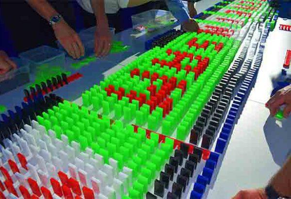 Domino Event Stuttgart, Domino Event in Stuttgart, Teamevent in Stuttgart, Teambuilding Events in Stuttgart, Firmenfeier in Stuttgart, Firmenevent in Stuttgart, Domino Stuttgart, Events Stuttgart