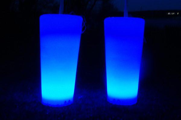 Leuchtende Vasen mieten, eleuchtende Dekoration mieten, Emmerich Events