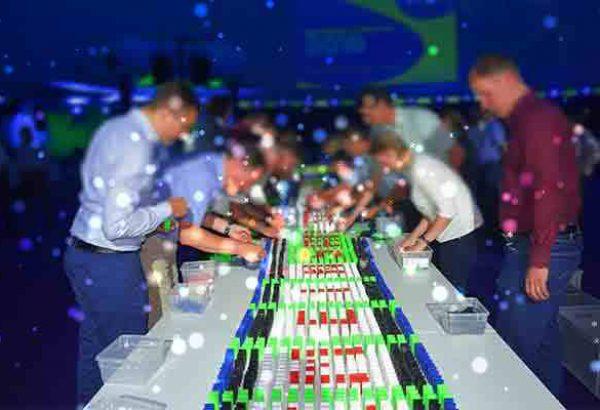 Weihnachtsdomino in Hannover, Weihnachtsfeier in Hannover, Weihnachtsfeier - Emmerich Events - Teamuilding in Hannover - Firmenevents in Hannover