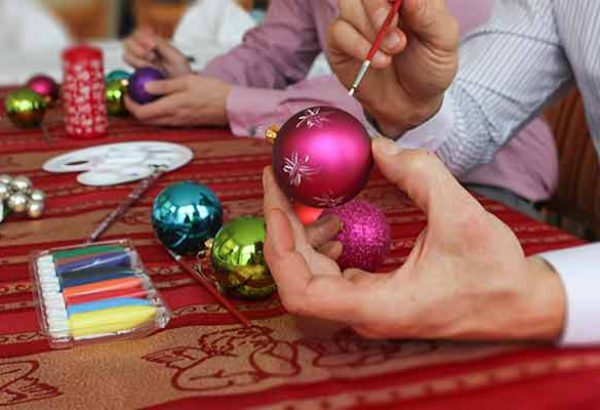 Weihnachtsfeier Weihnachtskugeln bemalen, Emmerich Events